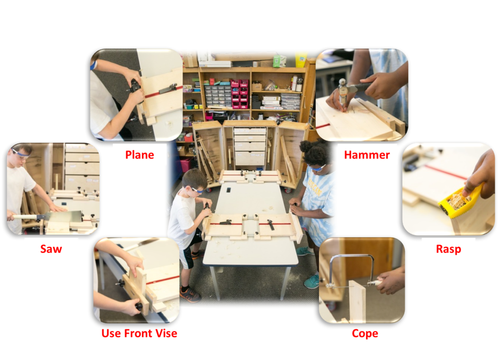 Tabletop Woodworking Stations Enable Portability