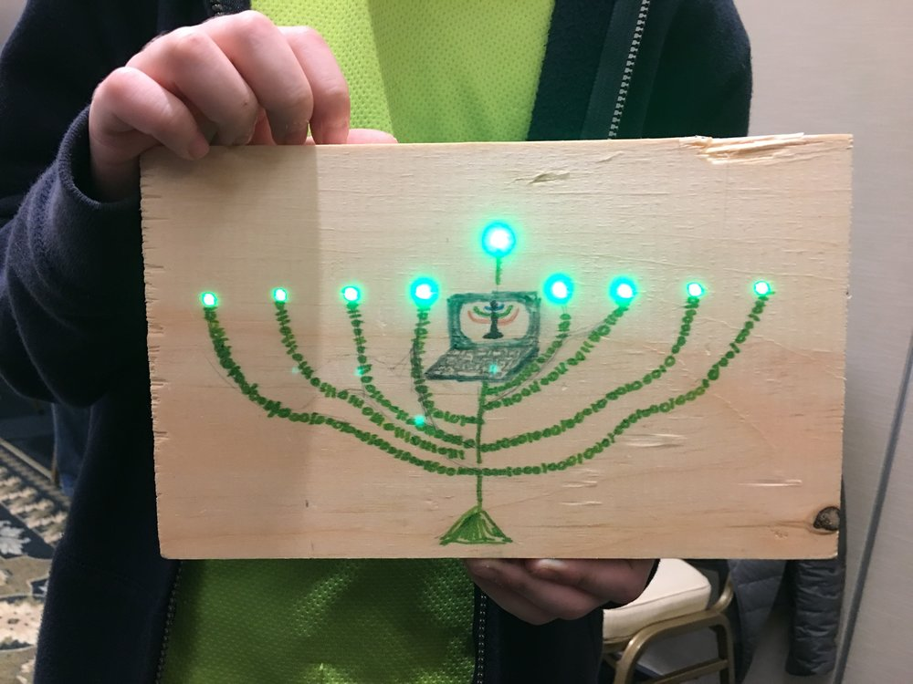Project: LED Menorah. Combines science, art and heritage