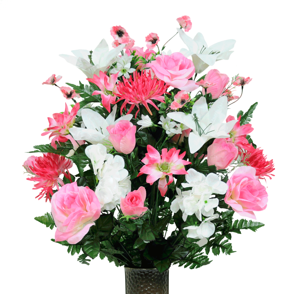 Seasonal silk flower arrangement new cathedral cemetery seasonal silk flower arrangement mightylinksfo