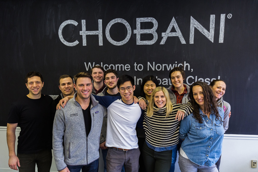 Group photo of participants in the Chobani Food Incubator