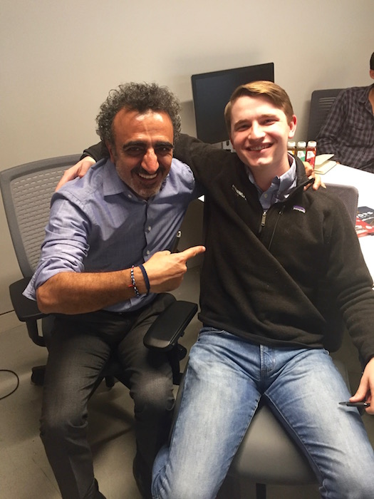 Luke and Hamdi Ulukaya, Founder and CEO of Chobani