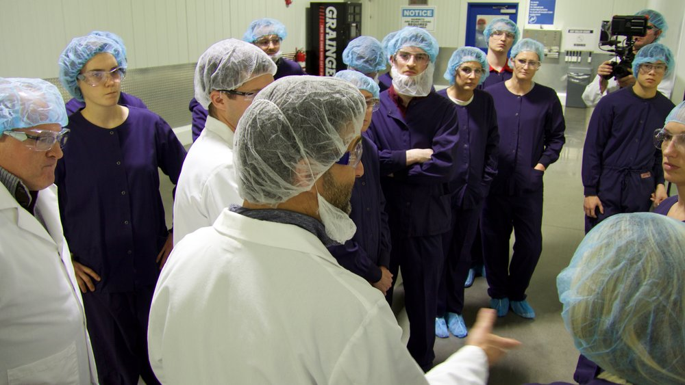 Group tour of Chobani Yogurt factory in Twin Falls, Idaho