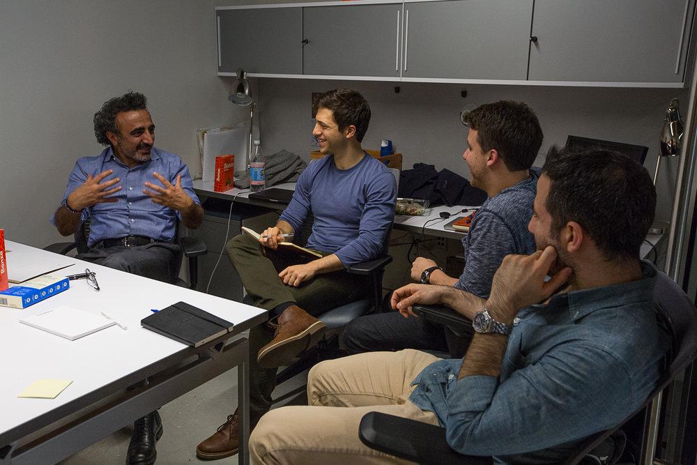 Team meeting with Hamdi at the Chobani Food Incubator.