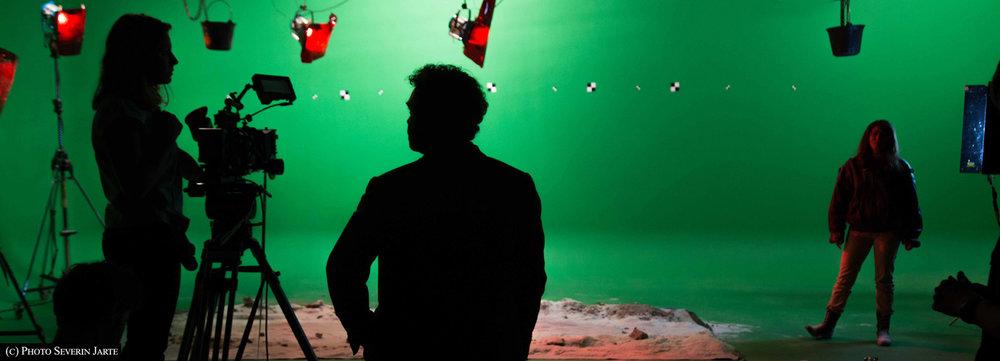"""Photo prise sur le tournage de """"the Observatory"""", d'Anais Delpech (2016)"""
