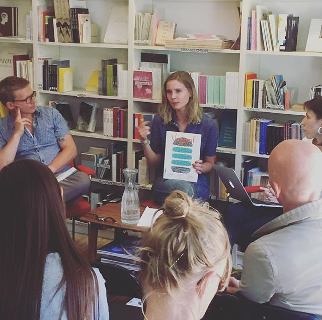 The community around the magazine is, in itself, almost like a school. Event about the Nordic literary journal at @moellegadesboghandel with Martin Glas Zerup, Kristin Vego & Hanna Stjernfeldt #reversecph #dklit #reverse2017 #dontmournorganize #møllegade #poetryfestival