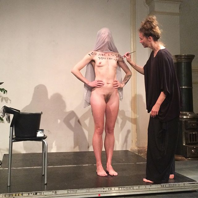 Thank you to Ursula Andkjær Olsen and Stense Andrea Lind-Valden for the most beautiful performance: I can not by myself #reversecph #reverse2017 #literaturhauskbh #dklit