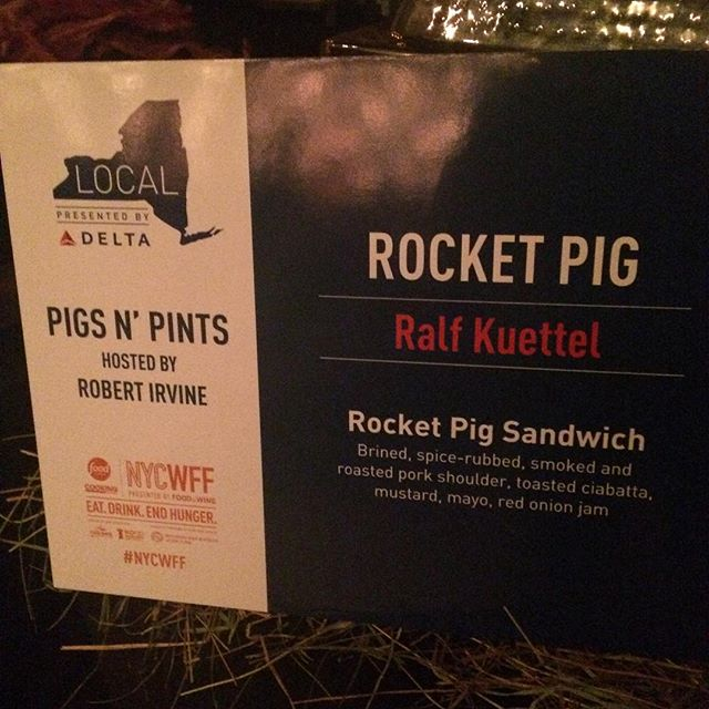 So pumped to be at #nycwff2015 the #pigsandpints event tonight! 500 hungry pork enthusiasts heading our way! @trestleontenth @ralfkuettel @julietterpope