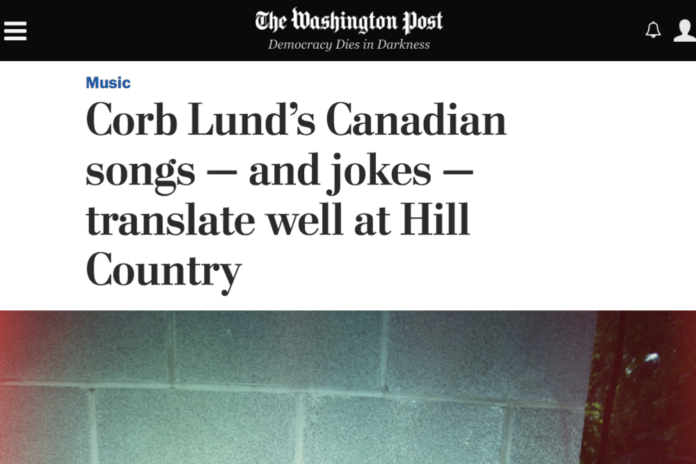 corb lund s canadian songs and jokes translate well at hill