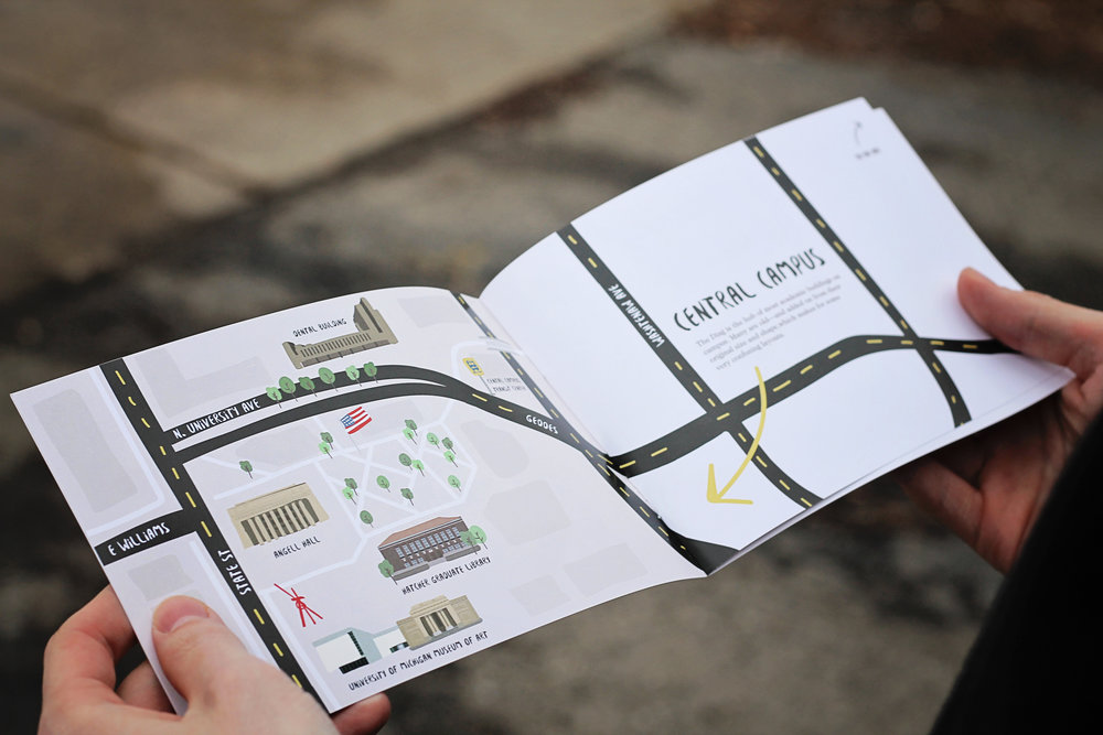 A map introduces each general location and detail pages describes the buildings indicated.