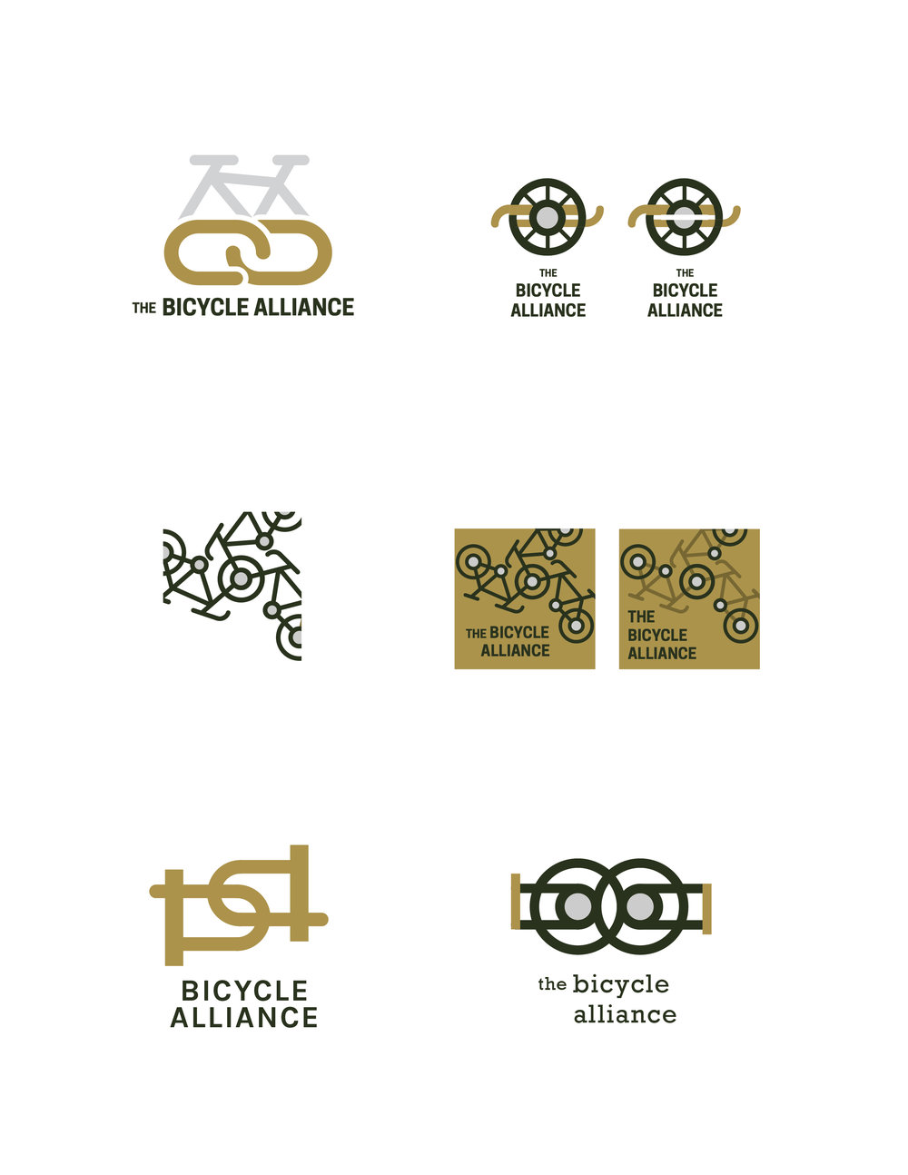 Initial concepts for the logo
