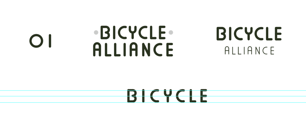 I decided to put emphasis on 'bicycle' by pushing back the size and weight of 'alliance.'