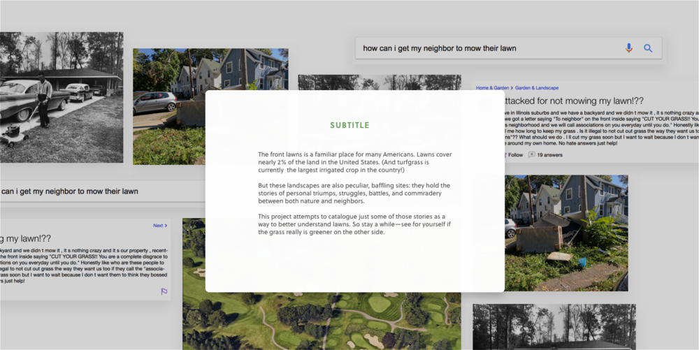 Potential layout for brief history page