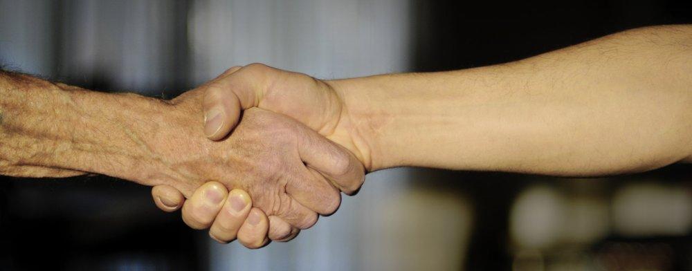 Aldrich Knife & Tool - Handshake, agreement.