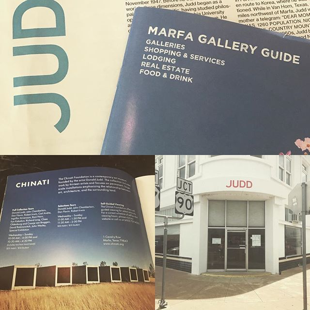 Visiting Marfa Texas and the Judd Foundation @momentum_fine_art #marfa