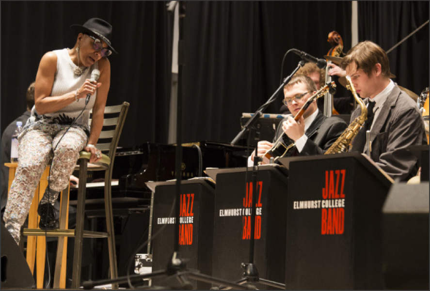 Grammy-award winning jazz vocalist Dee Dee Bridgewater sings with EC's Jazz Band during the Gala Opening Con- cert for Jazz Fest on Thursday, Feb. 23. Photo by Stefan Carlson