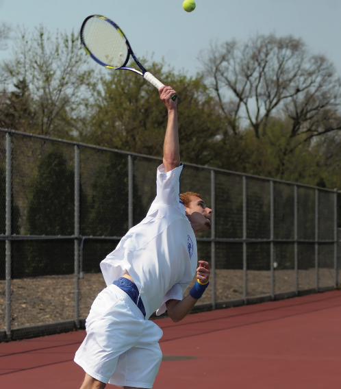 The EC Men's tennis team lost both matches played during the spring break to Lawrence University and Luther College. File Photo
