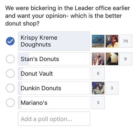 Vote for best donut & send your letters to the editor! Send your letters to leadernewsec@gmail.com to have your voice heard. Submit your letters by Friday, April 7th to have yours printed in the next issue!