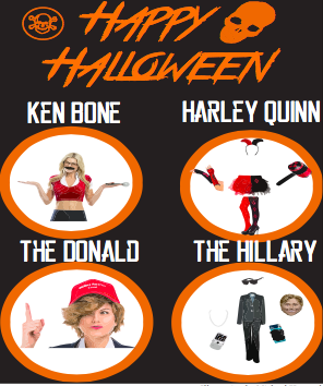 Themes for 2016's top costumes range from political to pop culture. (Illustration by Michael Horwath)