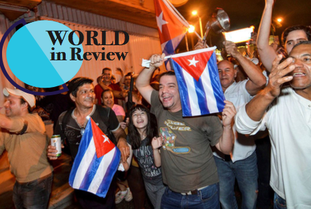 Cuban Americans parade through the streets of Miami celebrating the death of long time Cuban dictator Fidel Castro on Friday, Nov. 25. (Internet Photo)