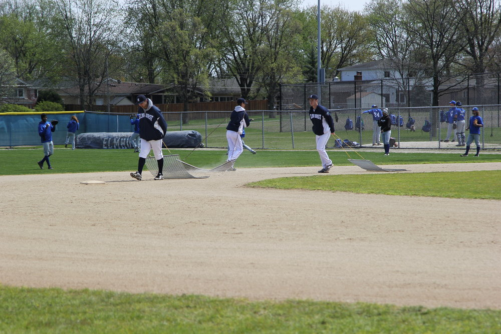 Butterfield Park, home of the EC Bluejays, is maintained by the baseball players themselves. Photo by Cole Sheeks