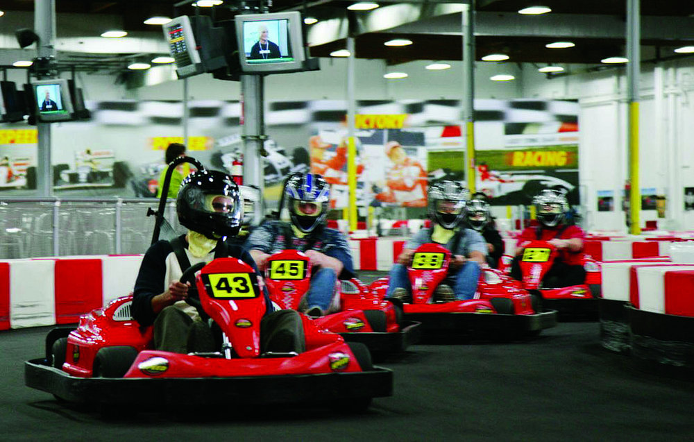 Internet photo   K1 Speedways in Addison lets patrons race a high speeds in the indoor go kart track.