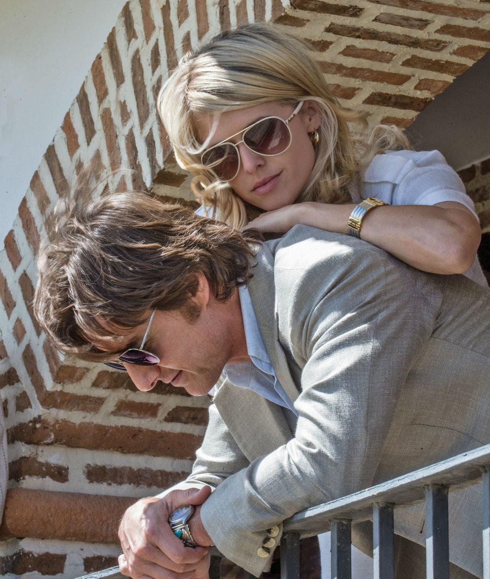 "Lucy Seal, played by Sarah Wright, comforts her distraught husband, Barry Seal, played by Tom Cruise, in ""American Made."" Internet Photo"