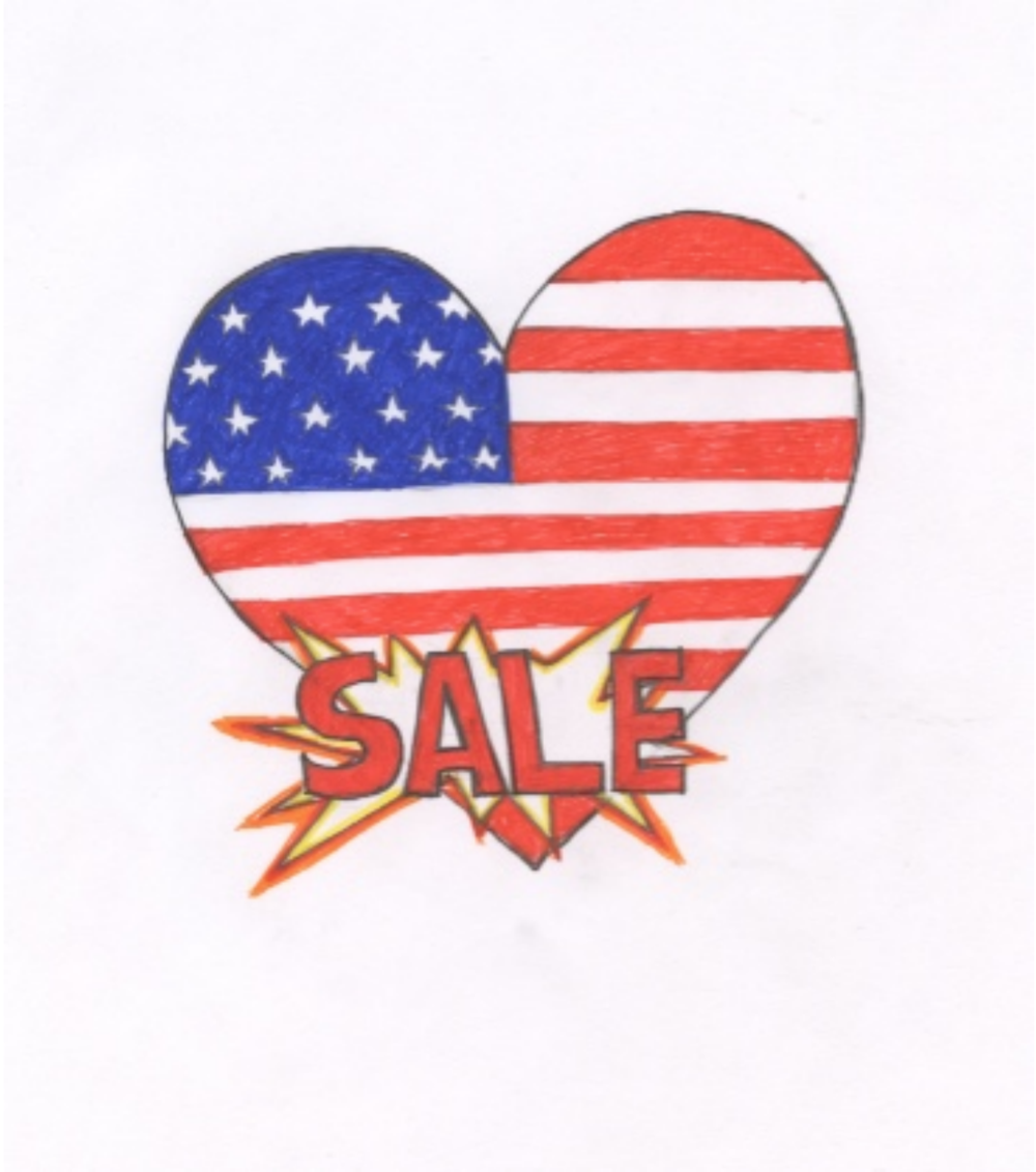 Putting the American heart on clearance, Editorial Illustration