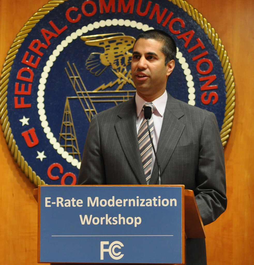 FCC head Ajit Pai plans to remove net neutrality's protection status as a title II utility. Internet Photo