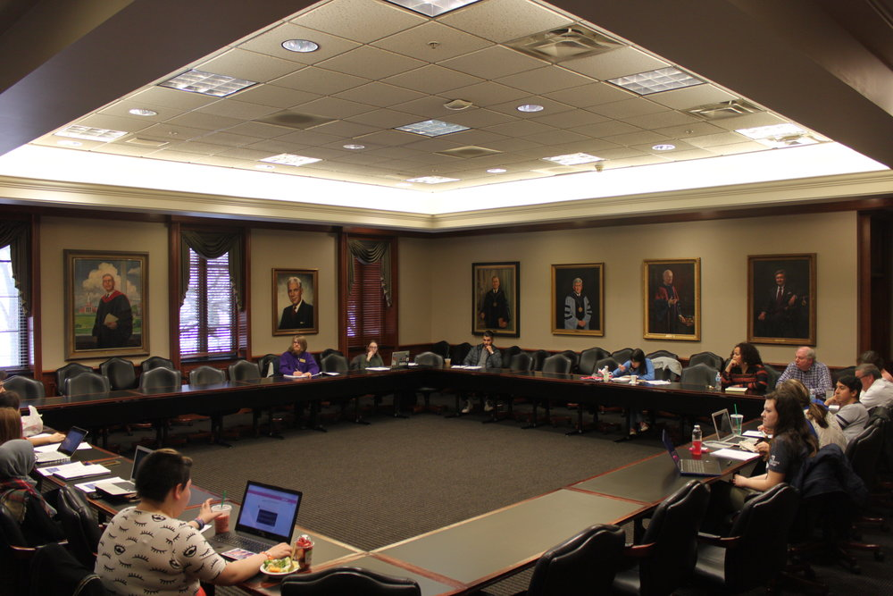 SGA meeting leaves several seats unfilled after many of its representatives resign.  Photo by Sam Dunn