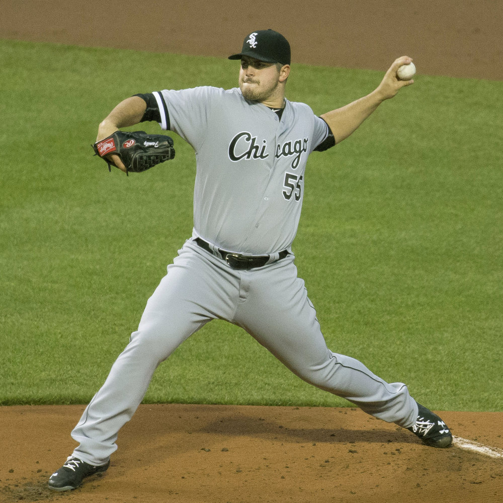 White Sox left-handed pitcher Carlos Rodon delivers a pitch during a road game last season.