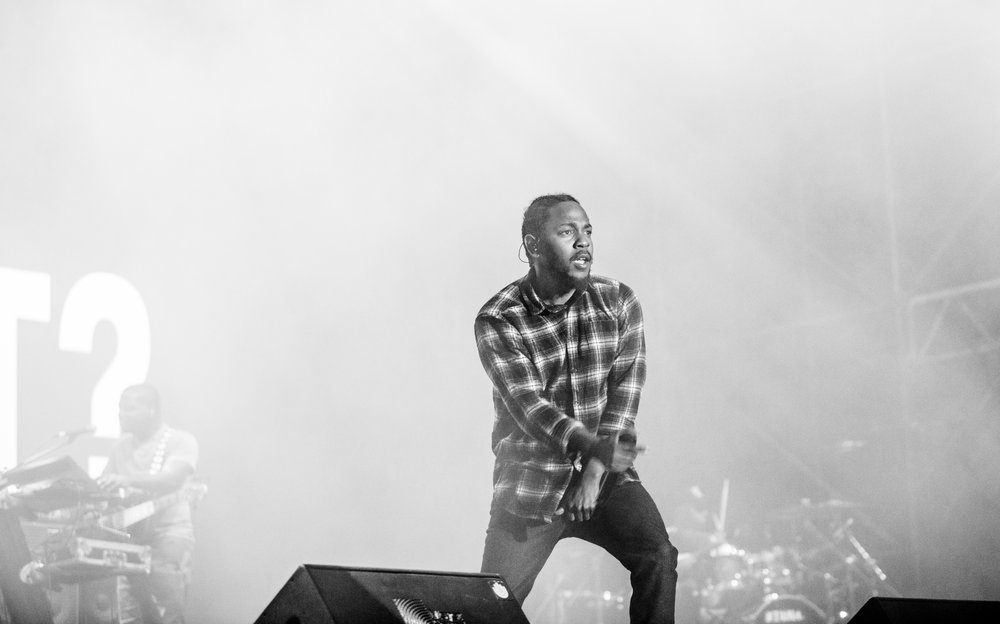 Internet Photo   Compton rapper Kendrick Lamar performs live on stage during the tour for his third studio album 'To Pimp A Butterfly.' His fourth studio album 'DAMN' became the first non-jazz or classical musical album to receive the Pulitzer Prize for music.