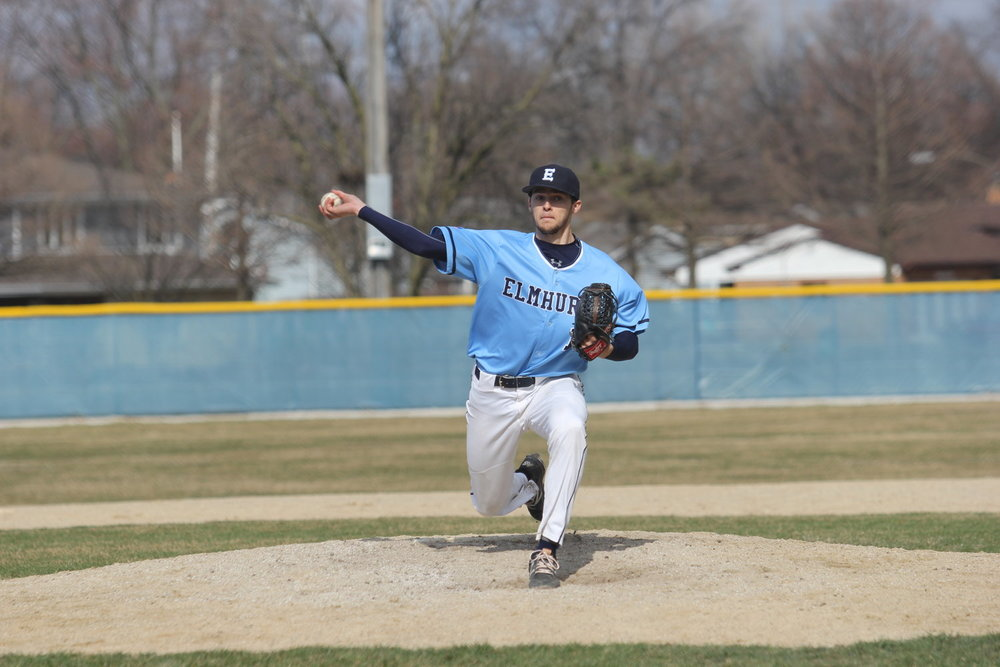 File Photo   Bluejays sophomore right-hander Alex Kielion throws a pitch against Illinois-Wesleyan on April 15.