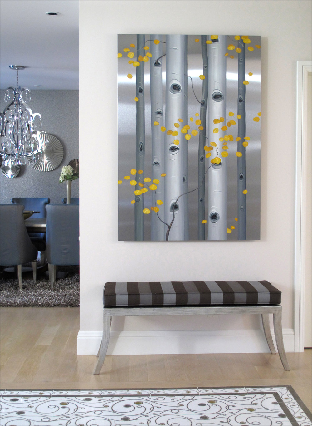 Aspen commission installed in Denver home (private collection)