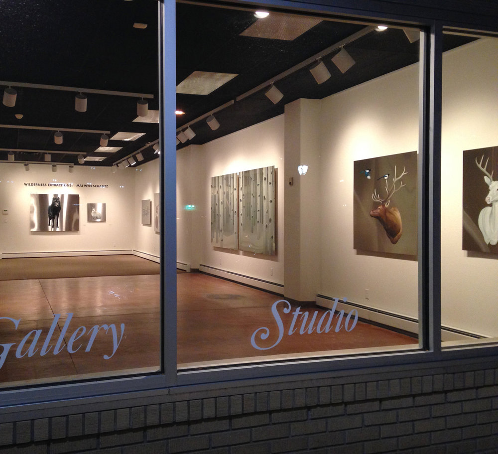 Installation view at Colorado Mesa University Gallery from the show Wilderness Extractions,   2014