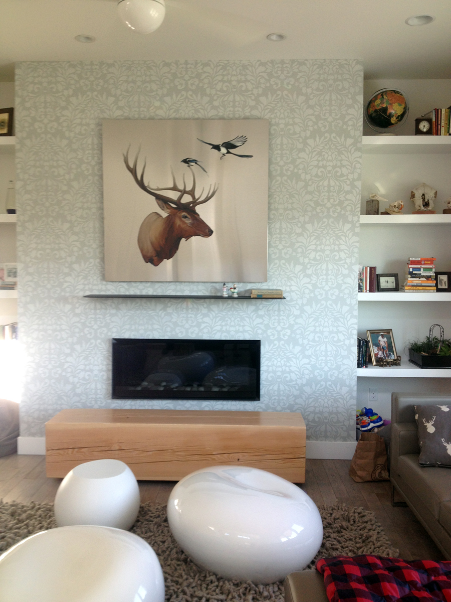 Anima installed over fireplace in Denver home (private collection)