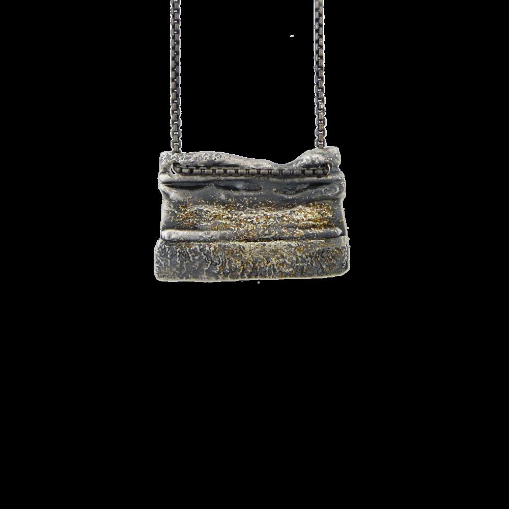 Gold Dust Block Necklace