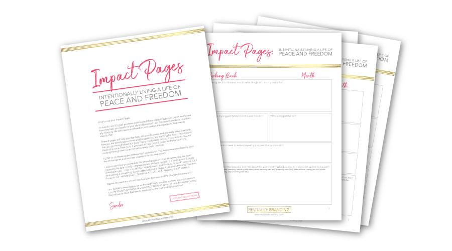 Revitalize Branding Impact Pages