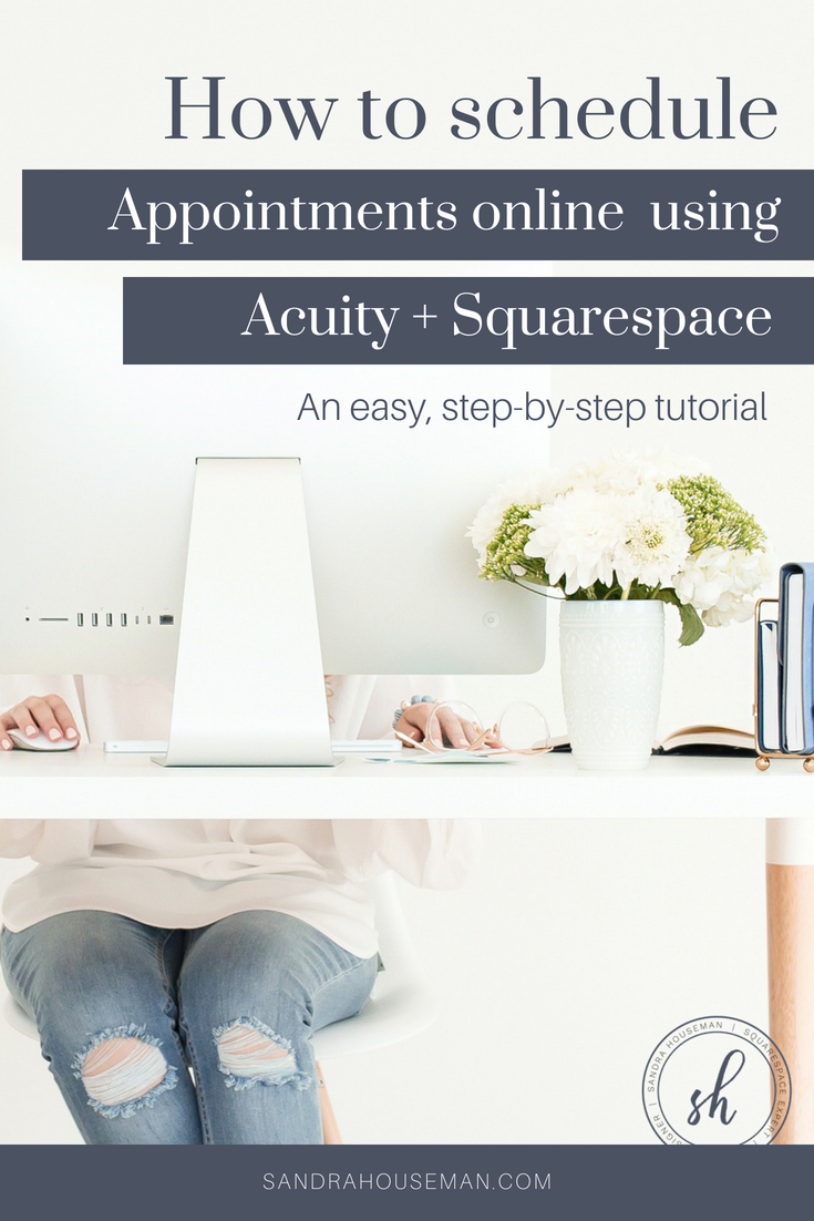 online scheduling with acuity and Squarespace