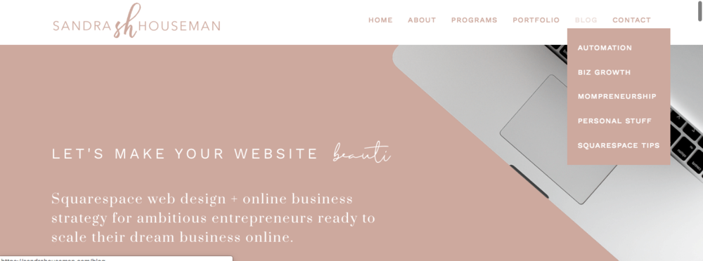 how to add squarespace blog categories