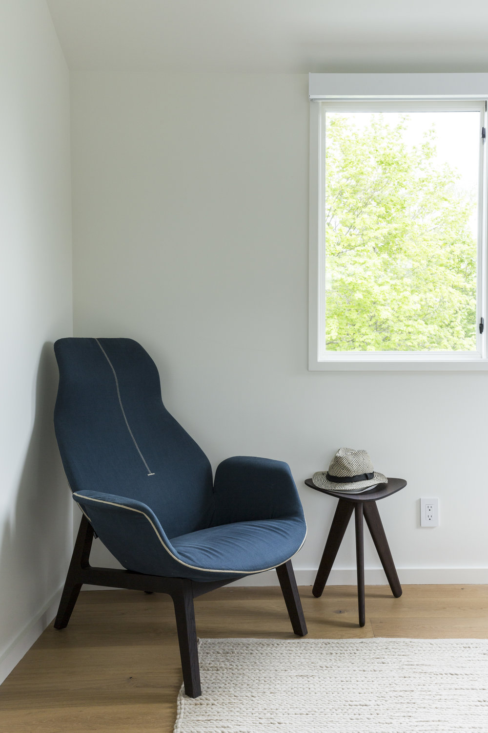 We love the deep blue color that you just want to dive into after a long day. and the enveloping design gives off an approachable modern vibe. The  Ventura Lounge  chair is one of our personal favorites!