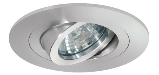 Adjustable LED light designed for recessed installation.