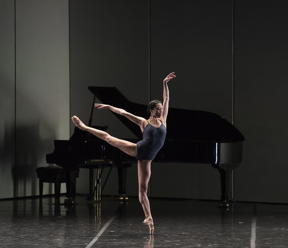 Lia Cirio in José Martinez's Resonance; photo by Gene Schiavone, courtesy Boston Ballet