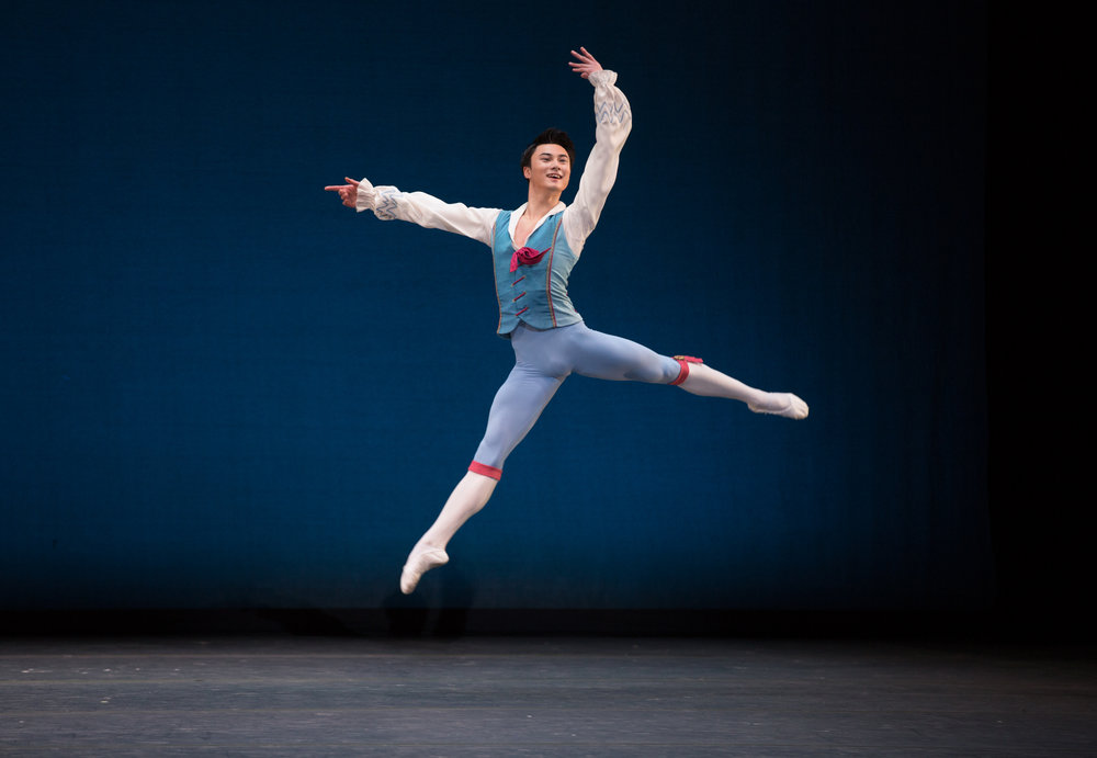 Junxiong Zhao in George Balanchine's Donizetti Variations (c) The George Balanchine Trust; photo by Rosalie O'Connor, courtesy Boston Ballet