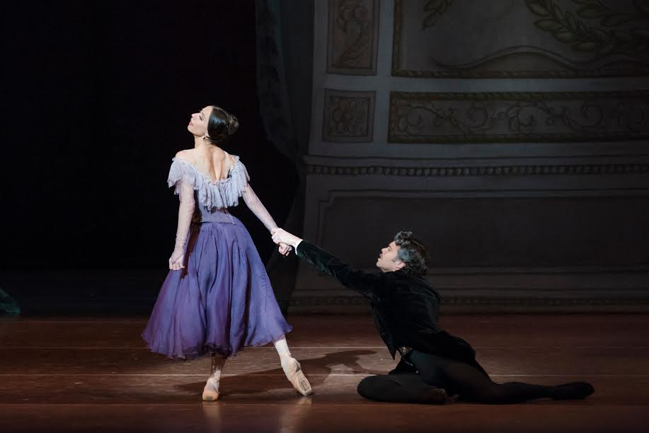 Erica Cornejo in John Cranko's Onegin; photo by Liza Voll, courtesy Boston Ballet