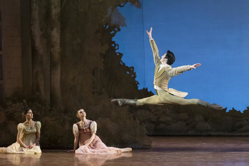 Junxiong Zhao in John Cranko's Onegin; photo by Liza Voll, courtesy of Boston Ballet