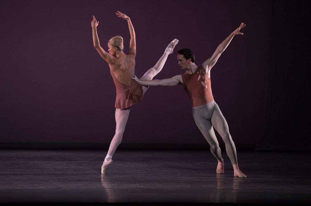 Lia Cirio and Paul Craig in Jorma Elo's Fifth Symphony of Jean Sibelius_ photo by Rosalie O'Connor, courtesy Boston Ballet