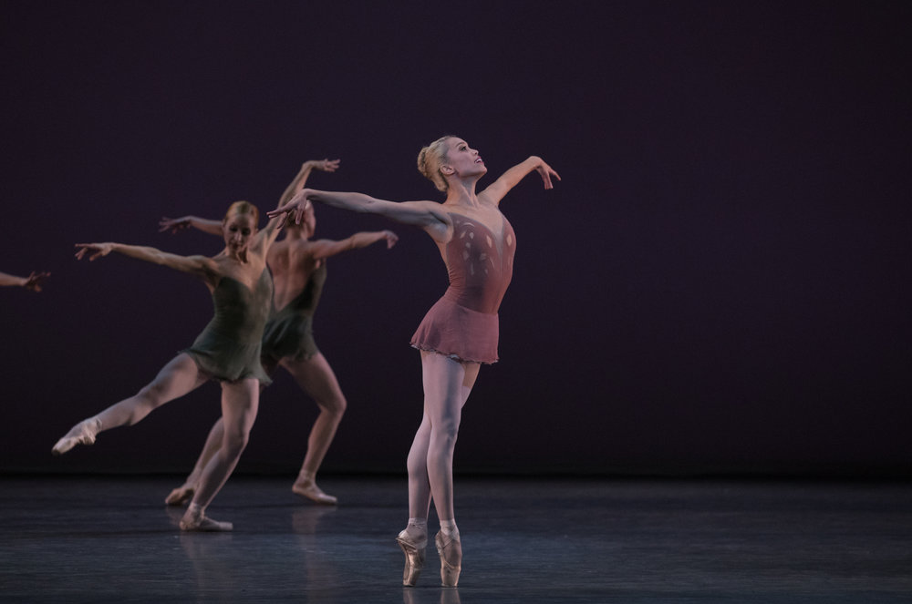 Lia Cirio in Jorma Elo's Fifth Symphony of Jean Sibelius; photo by Rosalie O'Connor, courtesy of Boston Ballet