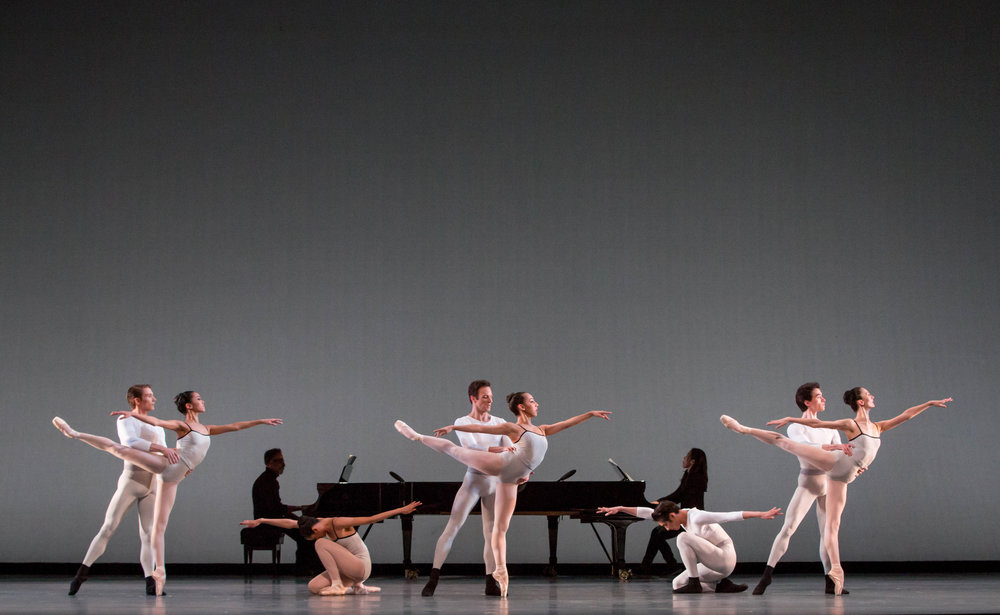The Joffrey Ballet in Justin Peck's In Creases; photo by Cheryl Mann, courtesy The Joffrey Ballet