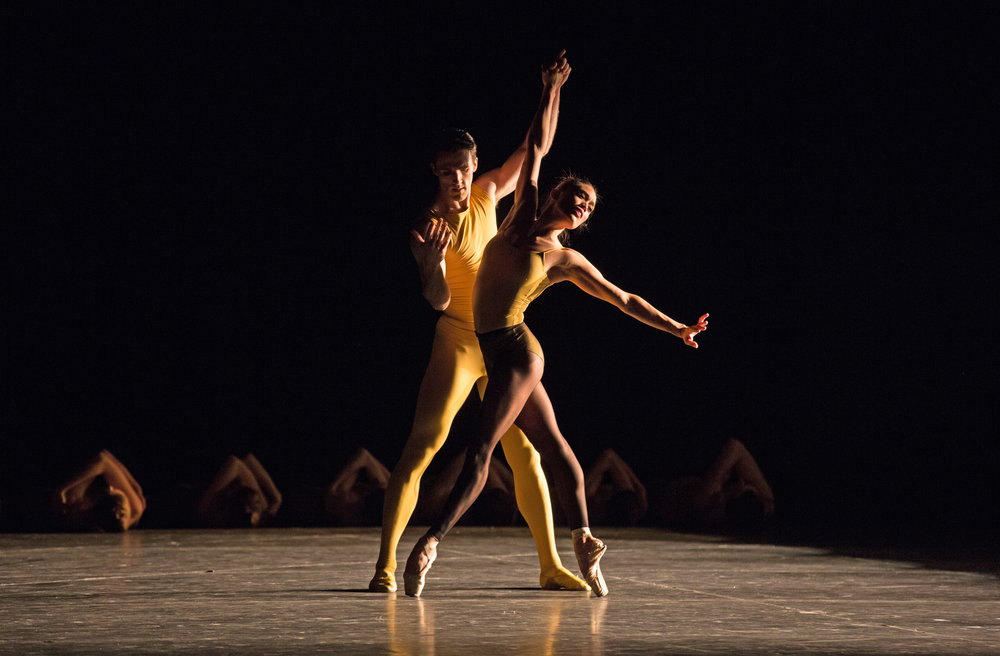 Roddy Doble and Lia Cirio in William Forsythe's Artifact; photo by Rosalie O'Connor, courtesy of Boston Ballet