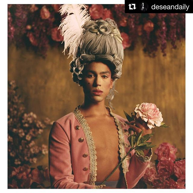 "#love and #respect for @deseandaily of @bostonballet! Thanks for sharing your candid story in this #gorgeous #photoshoot! . #Repost @deseandaily with @get_repost ・・・ Into Magazine: Take in all this Cake 🍰 🍒 #marieantoinette  Credits:  Photographer: Georden West (@geordenewest)  Model: Desean Taber (@deseandaily)  Stylist: Sonny (@sonnyfeld)  HMUA: Bianca Corso (@bmc_makeup)  Wig/Hair Stylist: Jocelyne ""By Jawz"" Ortega (@byjawz)  Process Facilitator: Po (@po.ave)  Gaffer/Grip: Chilam Cha (@chilamcs) Xuekun Zang (@marinamo)  Assistant: Carlos Benavides (@cardenphotos)  Wardrobe: Noah Pica (@no___duh), Erin Robertson (@an_erin), Acadia (@acadiaxemidy), Ex Mermaid (@exmermaid) • • • • • • • • • • • • • • • •  #boston #bostonballet #dancer #ballet #ballerina #dancer  #life #nyc #weekend #throwback #style #photography #photoshoot #photo #photographer #model #mensfashion #fashion #gay #gayboy #travelingphotography #follow #nyfw #designer"